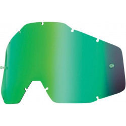Линза 100% Racecraft/Accuri/Strata Anti-Fog Mirror Green