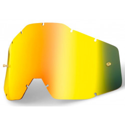 Линза 100% Racecraft/Accuri/Strata Anti-Fog Mirror Gold
